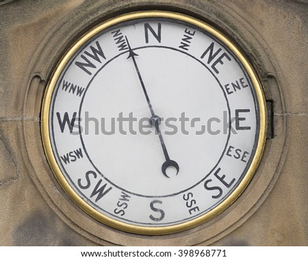 wall mounted compass