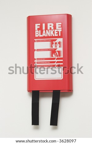Wall Mounted Fire Blanket - stock photo