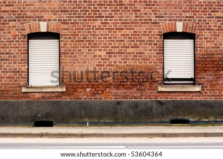Wall of abandoned house in Germany - stock photo