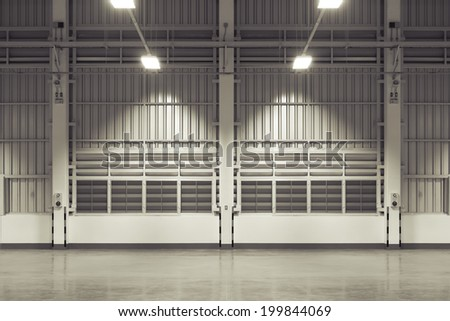 Wall of factory use for background. - stock photo