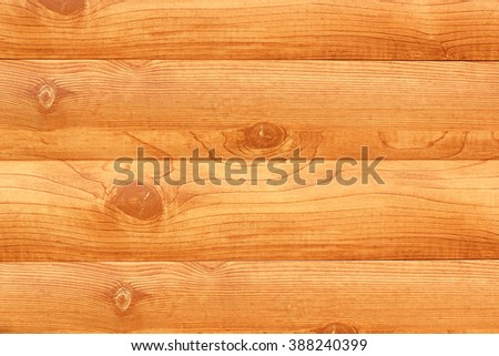 Wall of log cabin. Color image close-up - stock photo