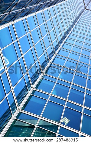 Wall of office building - architectural and business background - stock photo