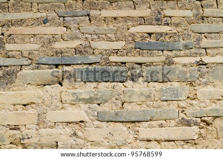 Wall of old brick
