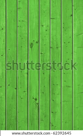 Wall of pine green wood board. Lining closeup, frontally. - stock photo