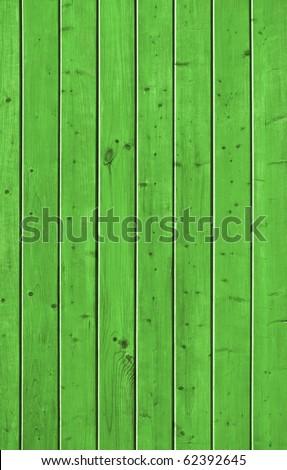 Wall of pine green wood board. Lining closeup, frontally. - stock photo