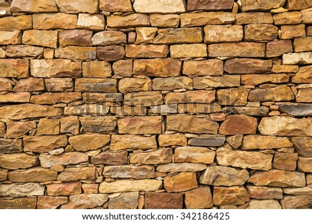 wall of stones as a texture for background - stock photo