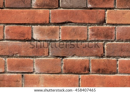 Wall of the brick