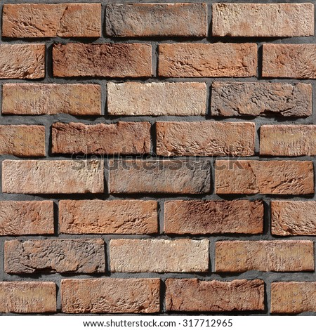 Wall of the brick - wall decorative tiles - Interior wallpaper - decorative pattern - seamless background - rustic appearance. classic style decoration. Wallpaper texture background. Repeating pattern - stock photo