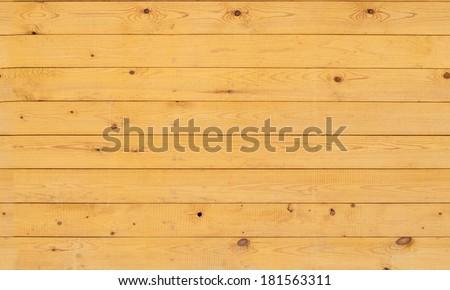 Wall of varnishing boards nailed - stock photo
