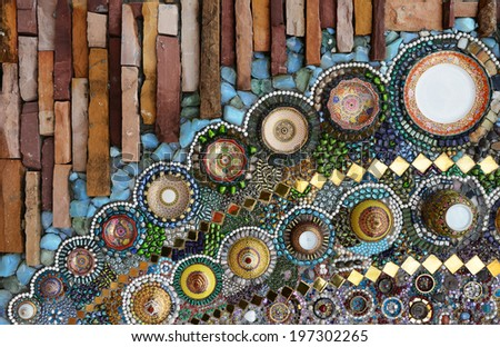 Wall ornate ceramic