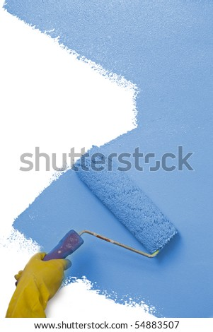 wall painting - stock photo