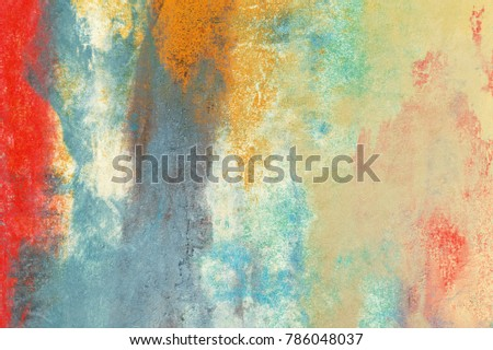 Wall Painting Handmade Abstract Art Texture Stock Illustration ...