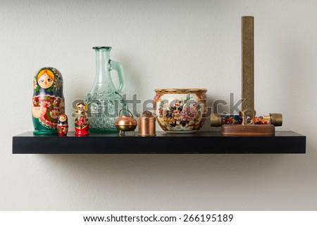 Wall shelf - stock photo