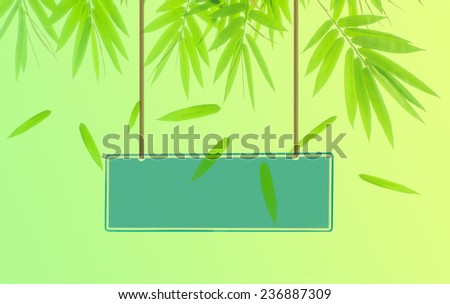 Wall Signs on nature background