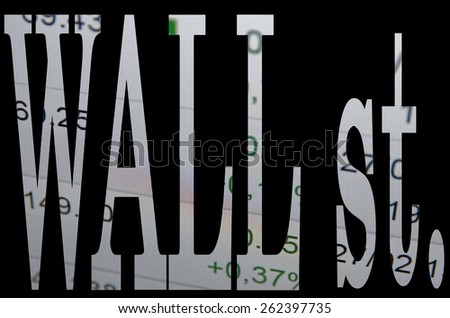 Wall st. - stock photo