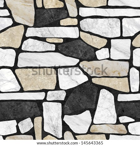 Wall stone pattern background.(High Res.) - stock photo