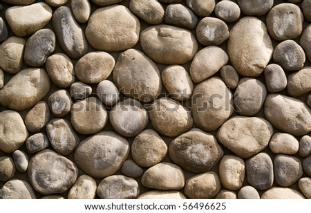 wall stones - stock photo