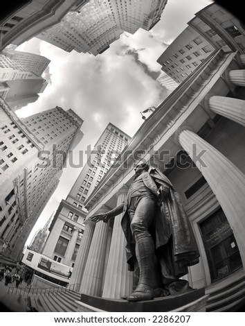 wall street - stock photo