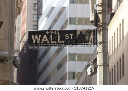 Wall Street in New York City, USA