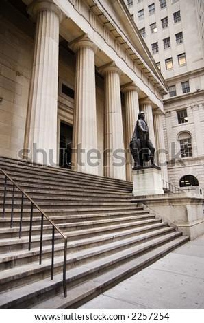 Wall Street NYC - stock photo