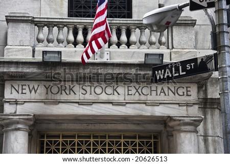 Wall Street NYSE - stock photo