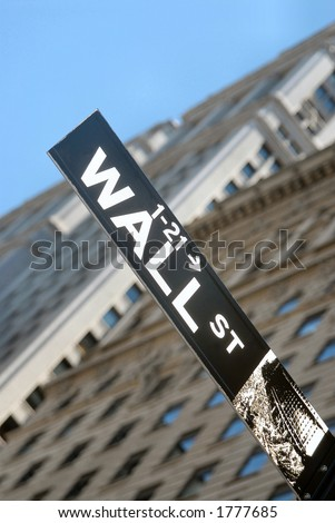 Wall Street plaque, Manhattan, New York City, - stock photo
