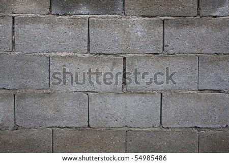 wall texture from grey bricks - stock photo