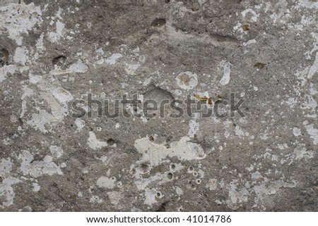 Wall texture. Grooved and ruined. - stock photo