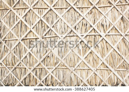 wall texture with sugar palm leaf  - stock photo