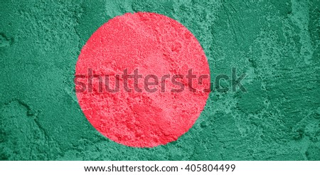 Wall texture with the flag of Bangladesh - stock photo