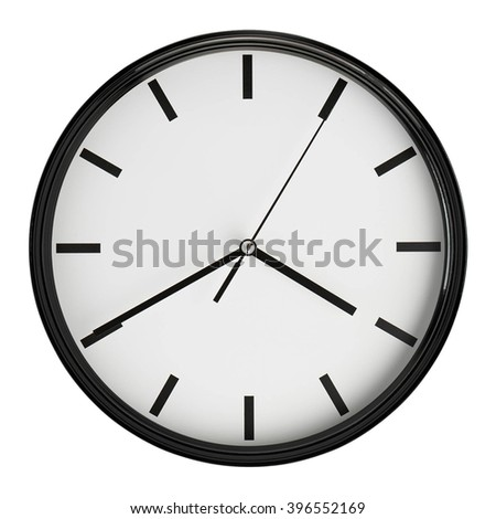 wall watch isolated - stock photo