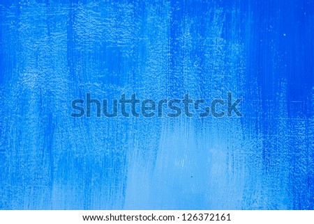 Wall with blue paint. - stock photo