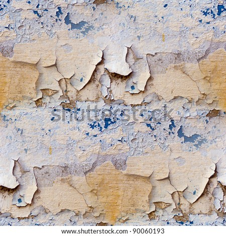wall with cracks seamless texture - stock photo