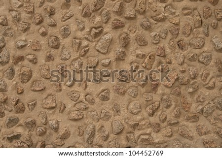wall with stone - stock photo