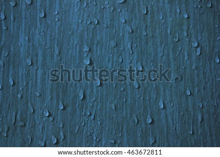 Wall  with water drops