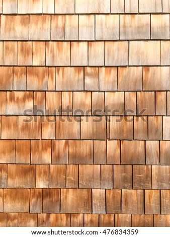 Wall with wooden planks.