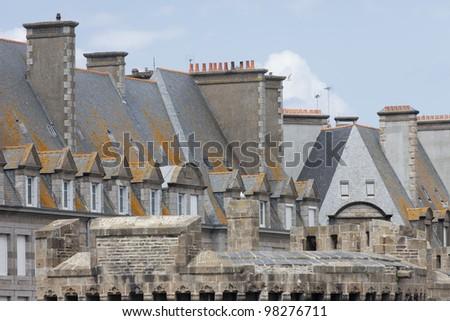 Walled city Saint-Malo - Saint-Malo, Brittany, France - stock photo
