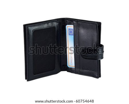 wallet for credit cards, isolated on a white background.