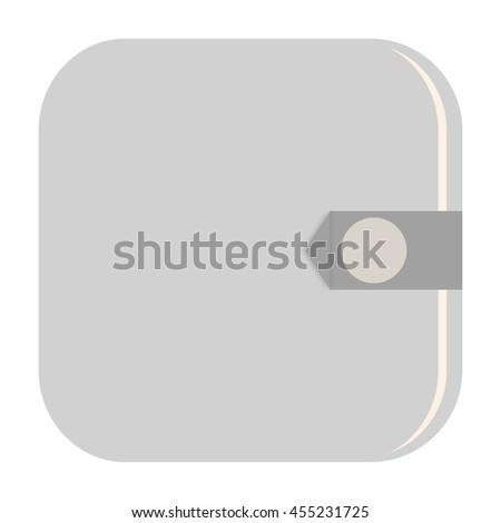 Wallet icon - stock photo