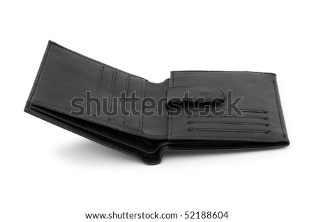 Wallet isolated on the white background - stock photo