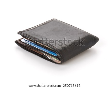 wallet isolated on white background - stock photo