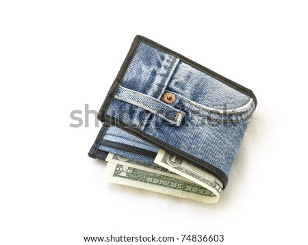 Wallet made of jean - stock photo
