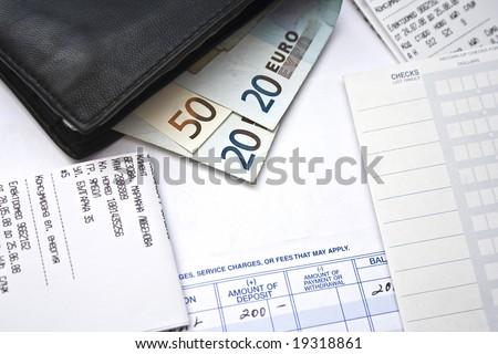 wallet money bills - stock photo