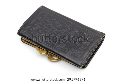 Wallet on the white background