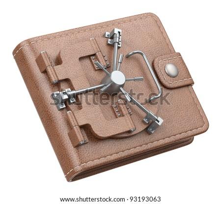 Wallet vault - stock photo