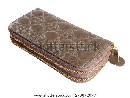 wallet. woman wallet on background. woman wallet on a background - stock photo