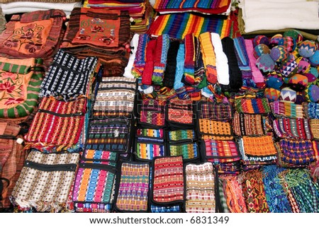Wallets and Bags found in Chiapas Mexico - stock photo