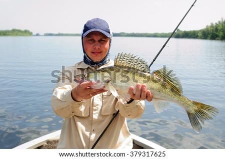stock photo walleye fishing 379317625