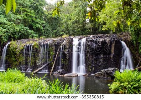 Wallicher Falls, Atherton Tableland - stock photo