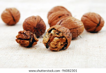 wallnuts close-up